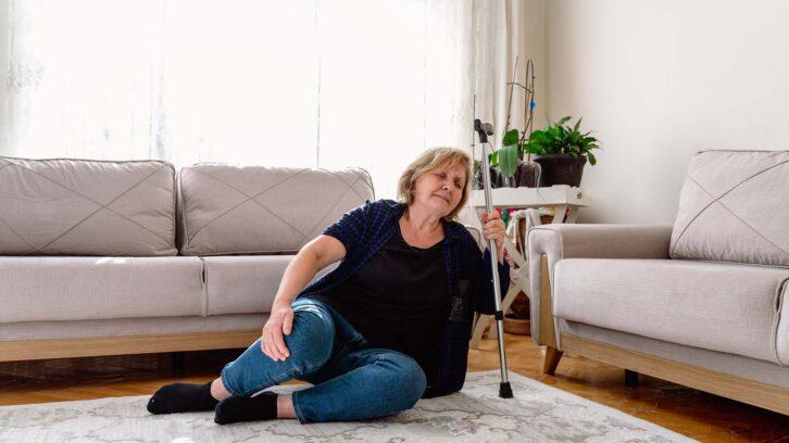 Senior falling in home