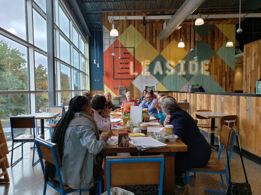 Mosaic Home Care event at café in Toronto