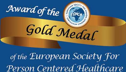 Award of the Gold Medal of the European Society for Person Centered Healthcare